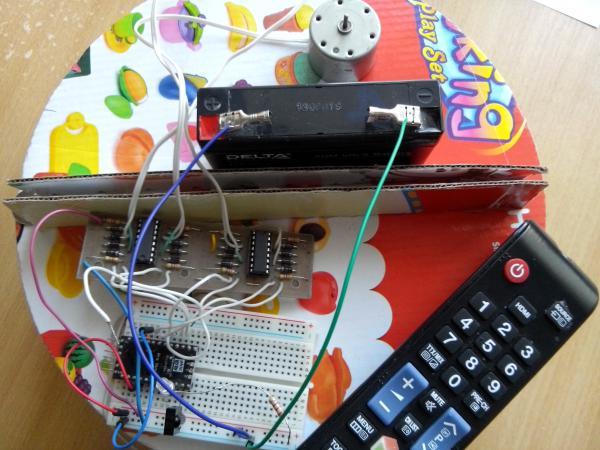 Robot vacuum cleaner electronics arduino